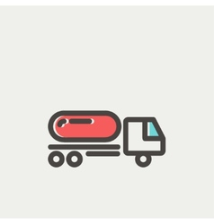 Fuel truck thin line icon vector image