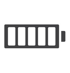 Full battery glyph icon web and mobile energy vector