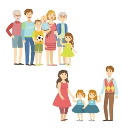 Full families posing together vector