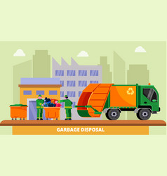 Garbage disposal recycling concept vector
