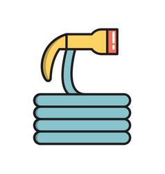 garden watering hose simple gardening icon vector image