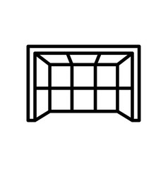 goalpost icon simple outline style sport symbol vector image