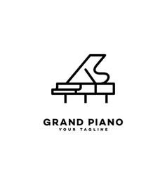 grand piano logo vector image