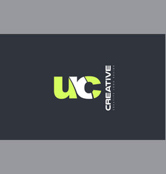 green letter uc u c combination logo icon company vector image