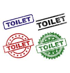 Grunge textured toilet stamp seals vector