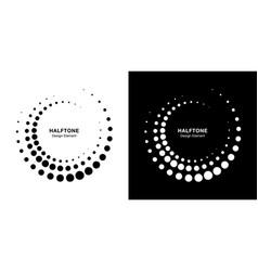 halftone circle frame dots frames set vector image