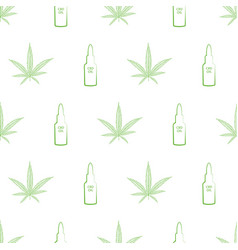 health themed design with green cannabis vector image
