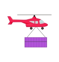 Helicopter Worldwide Warehouse Delivering vector image