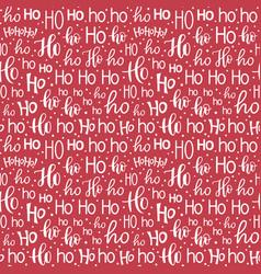 ho ho ho seamless background vector image