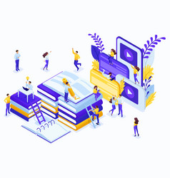 isometric concept for education vector image