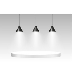 lamps with light on the wall stylish vector image