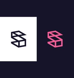 Letter s monogram vector