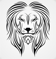 Lion Head Tribal vector image