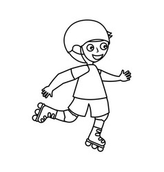 Little skater avatar icon vector