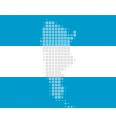 map and flag of argentina vector image