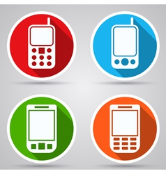Mobile phones icons vector image