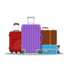 Modern and vintage travel bag vector