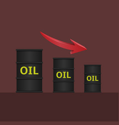 oil barrels with arrow vector image