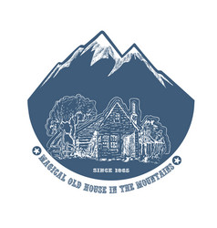 Old farm in the mountains vector