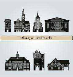 olsztyn landmarks vector image