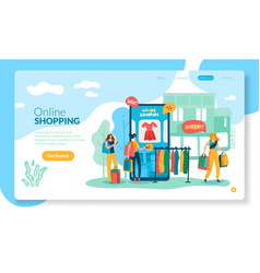 online shopping concept internet retail purchase vector image