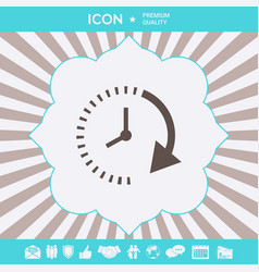 Passage of time icon graphic elements for your vector