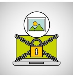 Picture security internet technology vector