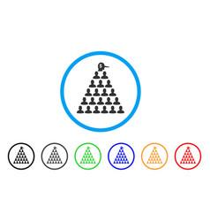Ponzi pyramid manager icon vector