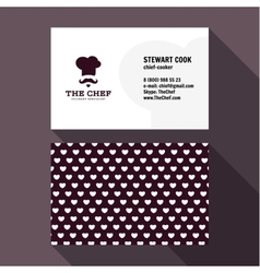 Qualitative elegant Business Card chef logo vector image