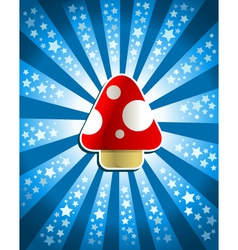 Red magic mushroom vector