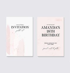 Save date birthday invitation with tender vector