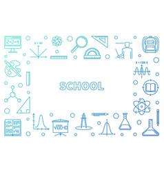 school concept modern outline frame vector image