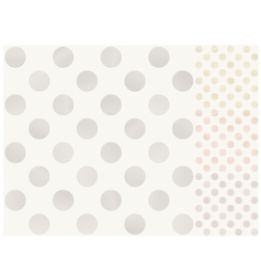 Seamless polka dots with silver gold bronze vector image