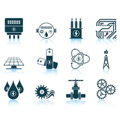 Set of energy icons vector image