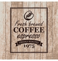 Sign for a cafe with coffee grains vector