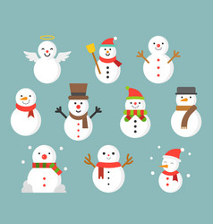 Snowman icon for winter and christmas flat design vector