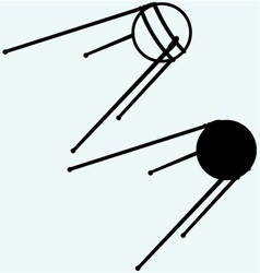 Soviet satellite vector image