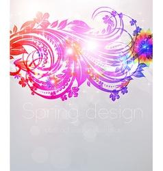 spring floral design vector image