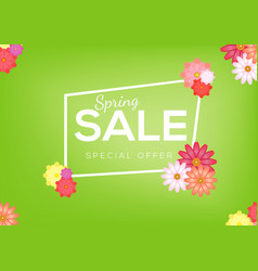 spring sale banner design abstract colorful flower vector image