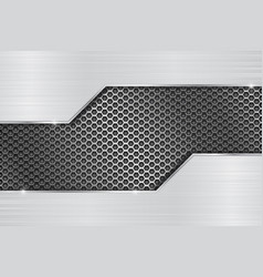 Stainless steel background with perforation vector