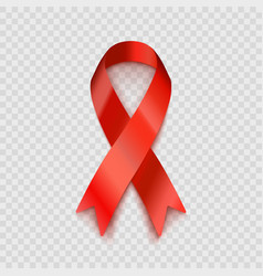 stock red ribbon isolated on vector image