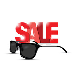Sunglasses sale sign vector
