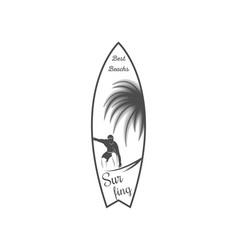 surfboard logotype vector image