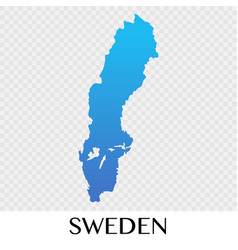 sweden map in europe continent design vector image