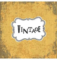 vintage retro grungy card vector image vector image