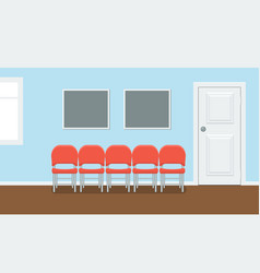 Waiting room for patients in the dental office vector