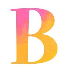 Watercolor alphabet letter vector image