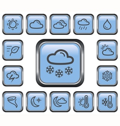 Weather buttons vector image