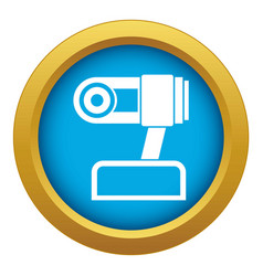 Webcam icon blue isolated vector