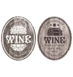 Wine labels with the barrel vector